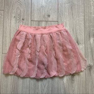 Gap kids blush pink feathers skirt size 10 large
